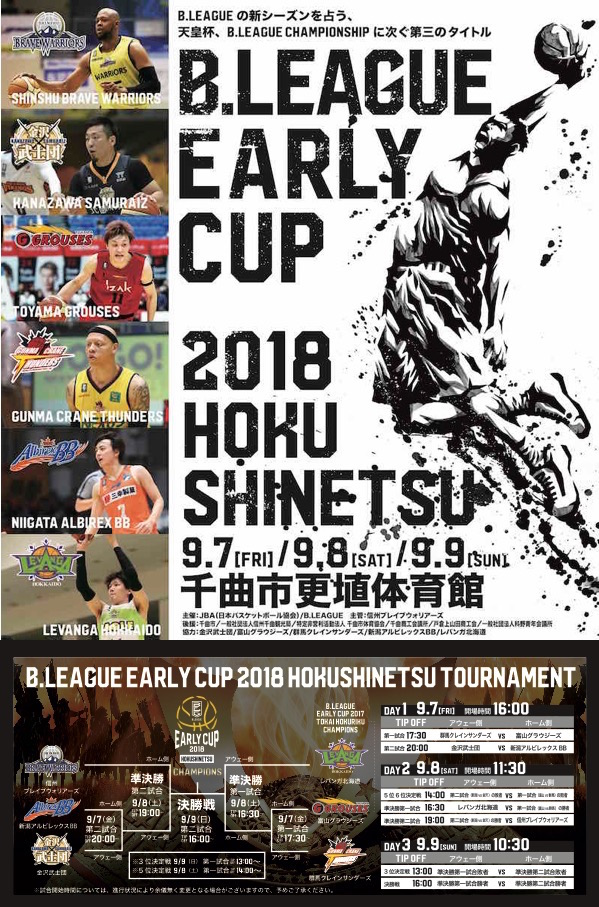 B.LEAGUE EARLY CUP 2018 HOKUSHINETSU  【3日目】